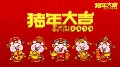 """祝大家2019年""""猪""""事顺利,财源滚滚"""